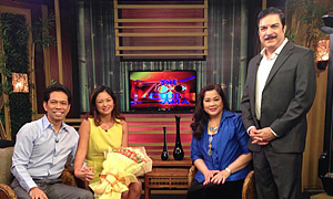 Newly Engaged Couple Ardy Roberto and Miriam Quiambao on The 700 Club Asia
