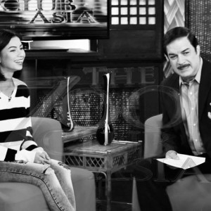 Kapuso Actress Glaiza De Castro Graces the Set of The 700 Club Asia