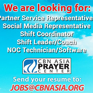 CBN Asia Prayer Center Job Openings