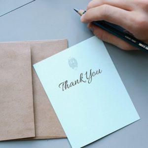 "Saying ""Thank You"""