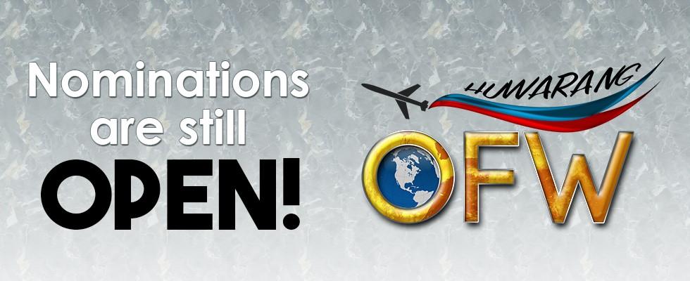 Huwarang OFW 2017 Nominations still Open