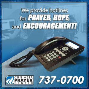 Call the Prayer Center 737-0-700