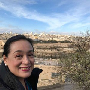 Coney Reyes Nubla at the Mount of Olives