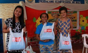 Operation Blessing Distributed Relief Goods to up to 500 families in San Mateo, Rizal