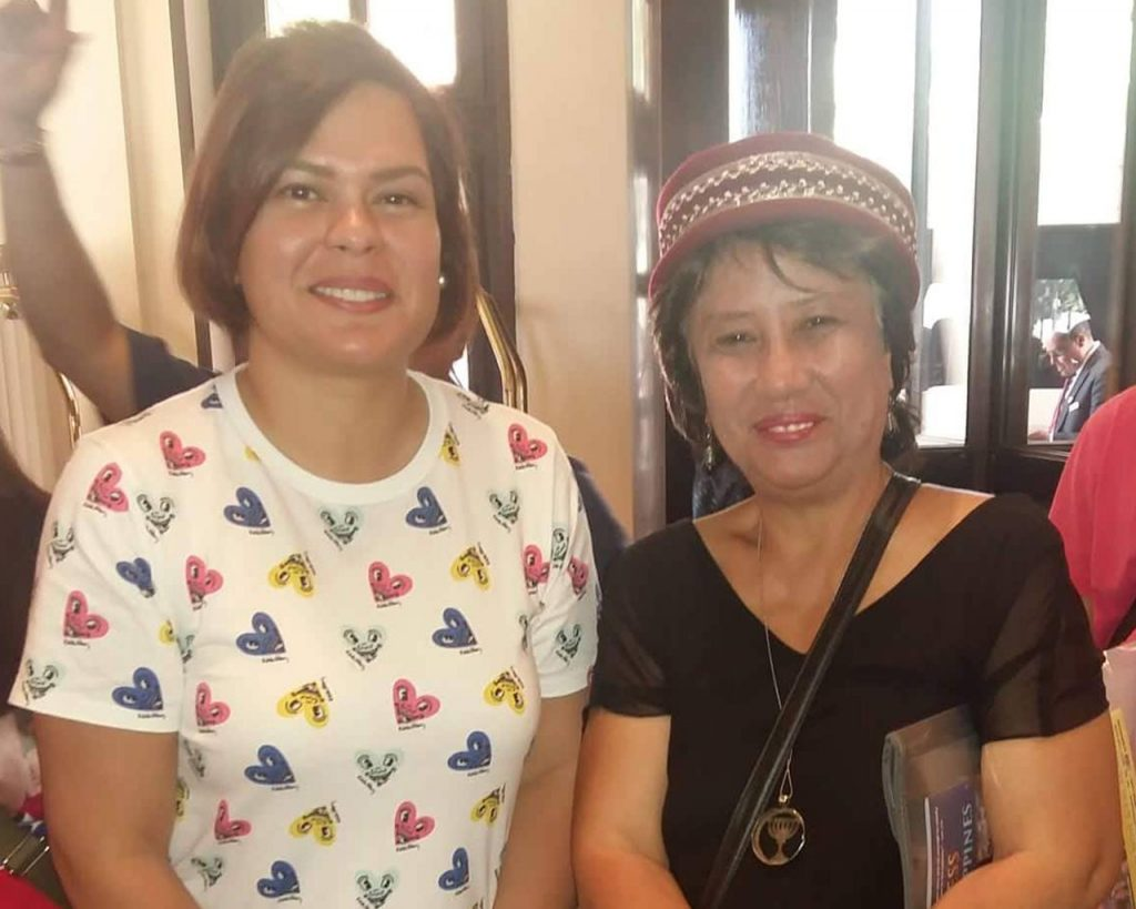 Sara Duterte and CBN Asia Senior Writer Nena Benigno