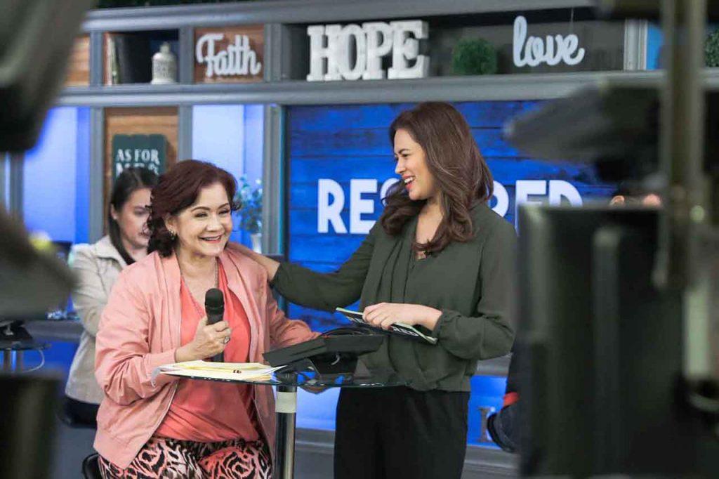 Lara Quigaman-Alcaraz w/ Carla Martinez in a telethon