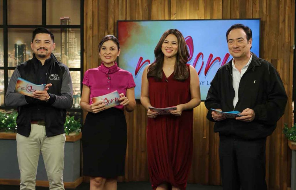 Lara Quigaman Alcaraz with other hosts