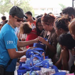 This is Where Your Giving Goes – Operation Blessing Distributed Relief Packs to Taal Victims