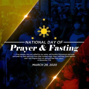 Join the National Day of Prayer and Fasting against COVID-19 this March 29!