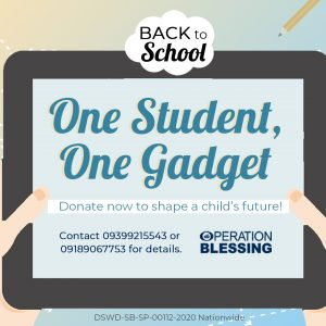 """Support Students in their Learning through """"One Student, One Gadget"""" Campaign!"""