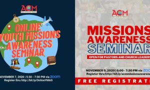 Missional amid Pandemic: ACM Opens Free Missions Awareness Seminars