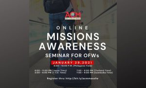 Are you an OFW? This Free Missions Awareness Seminar is for You!