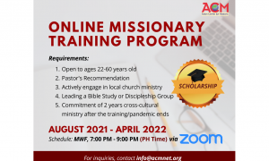 Missional amid the Pandemic: Start Your Free Missionary Training this August!