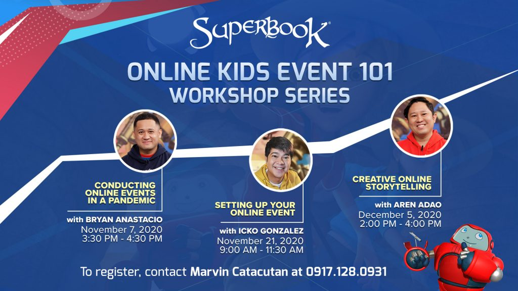 """11052020_Setting up Online Events for Kids Join Superbook's Free """"Online Kids Event 101"""