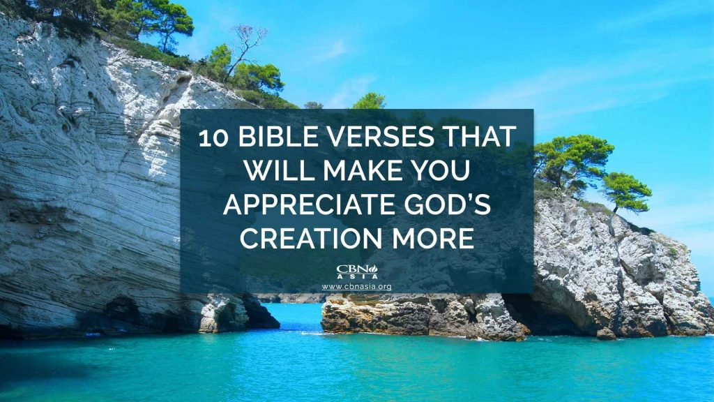 Bible Verses that Will Make You Appreciate God's Creation More